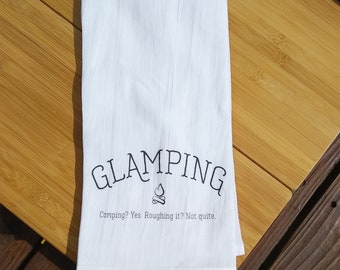Glamping Tea Towel | RV Accessories | Glamping Decor | Camping | Cottage | RV Decor | Home Decor | Wanderlust | Kitchen Towel | Airstream