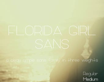 Florida Girl Sans Font - Commercial Use Font - Sans Serif - Clean Font -  Modern Font