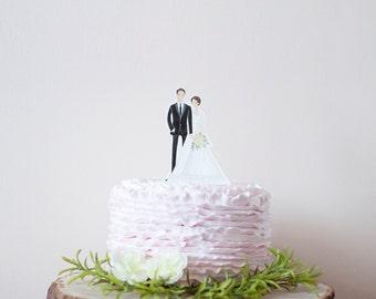 Wedding Cake Topper Custom Couple Illustration