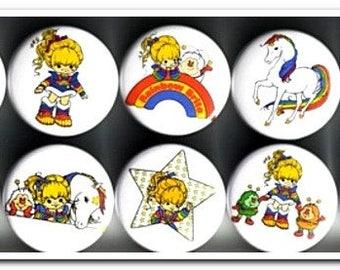 10 Rainbow Brite badges buttons pins pinback Starlite color kids Sprites eighties