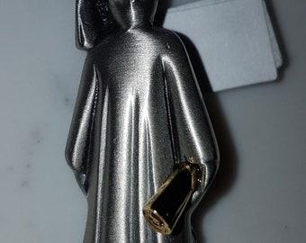 Vintage, Pewter, Graduation brooch, graduation pin, graduation gift, vintage jewelry, vintage accessories