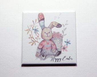 Easter Bunny, Happy Easter Magnet, Magnet, Fridge magnet, Easter, Easter Rabbit, Easter gift, Easter magnet, pastel colors (7388)