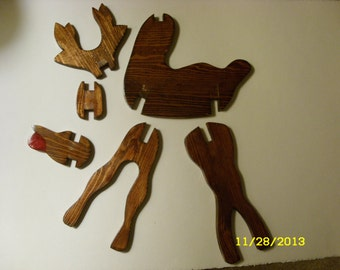 reindeer puzzle and project for DIY's
