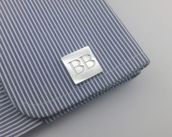 Personalized Cufflink - Personalized initials Cufflinks - Groom Wedding Cufflinks, Letters Cufflinks, Initials Cufflinks, Father's day gift