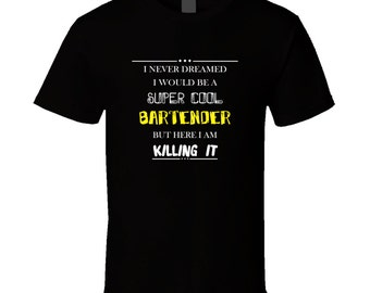 Bartender t-shirt. Bartender tshirt. Bartender tee for him or her. Bartender idea gift as a Bartender gift. A great Bartender t shirt