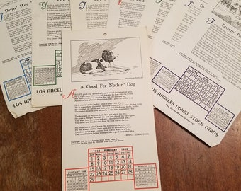 Vintage Los Angeles stock yard pages
