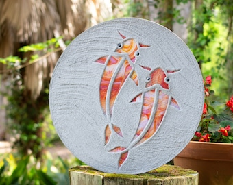 Koi Fish Goldfish Stepping Stone #758