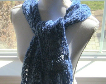 Gift For Her, Womens Scarf, Denim Blue Scarf, Blue Scarf, Fashion Scarf, Long Scarf, Denim Scarf