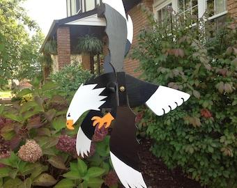 eagle whirligig handmade wood wind spinner folk art whirligigs wood yard art