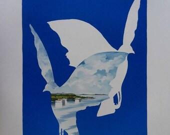 Denoël - Dove of freedom - original lithograph