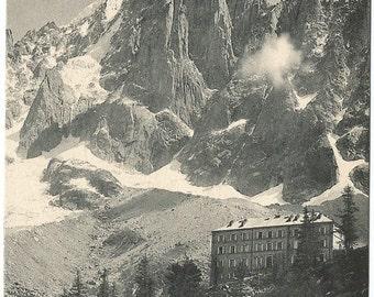 Montanvert et L'Aiguille du Oru, 1910 Unused Postcard, Switzerland