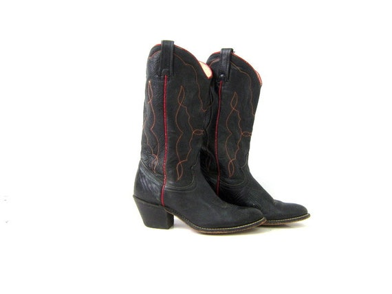 7d87fe41a98 Boots Boots Cowgirl Western Calf size Boots Mid Womens Cowboy Stitch ...