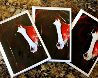 Red Horse - Blank Greeting Card for any occasion