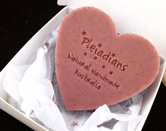 Gift Of Love/Shape Of My Heart,Pink Clay,Essential Oil Soap,Handmade Soap,Cold process soap,Natural Soap,Cruelty Free,Pleiadians Handmade