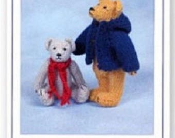 Jamie and Duncan Teddy Bear Knitting  Pattern , Toy knitting pattern by Sandra Polley, Teddy bear  toy pattern, teddy knitting pattern