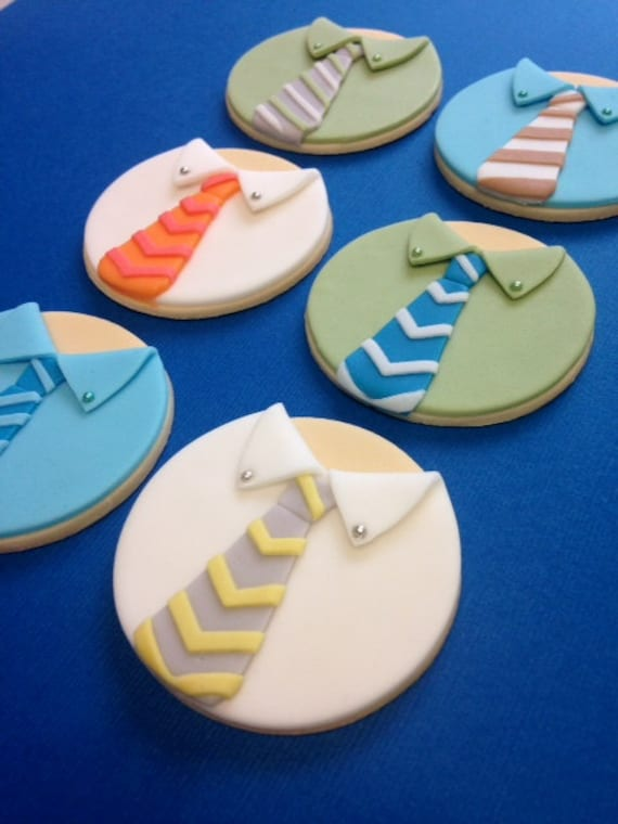fondant fathers day cupcake toppers fondant shirt and tie. Black Bedroom Furniture Sets. Home Design Ideas