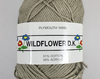 Plymouth Yarn (Wildflower D.K.) - Light Olive Green