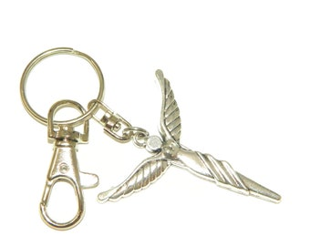 015 - Guardian Angel Charm Keyring for Protection and Good Luck
