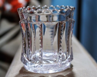 Antique Tarentum Glass' Toothpick / Match Holder #902  - Serrated Prisms  / Notched Panels