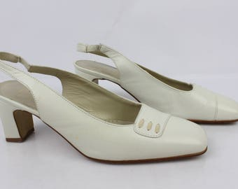 VINTAGE open shoes PEPE VARO Ecru leather very good condition 1914