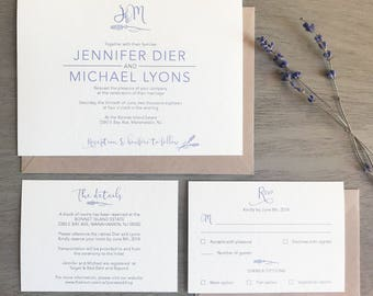 Wedding Invitation Suite Package (Choose A Package) - Blooming with Love Collection