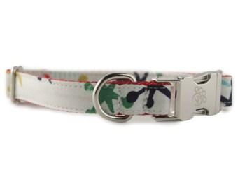 Jacks Dog Collar - Jax Dog Collar - White Dog Collar - Vintage toy dog collar - Retro Dog Collar
