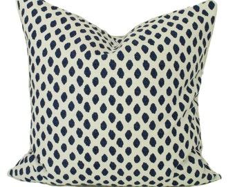 Blue pillow cover, 12x20, 12x22, Blue lumbar pillow, Blue throw pillow, Blue cushion cover, Blue white pillow, Couch pillow, Sofa cushion