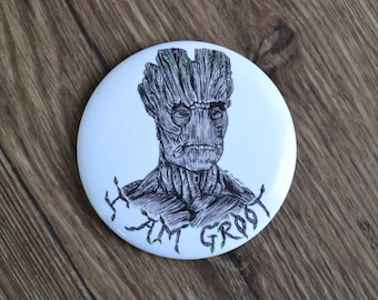 I Am Groot 56mm Illustrated Pocket Mirror.