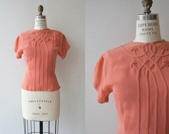 Coralie blouse | vintage 1940s blouse | rayon 40s blouse