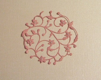 Lovely Glitzy Flowering Embellishment with Pearls - Perfect for Cards - Set of 3