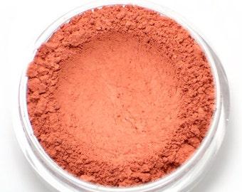 """Red Coral Blush - """"Sorbet"""" (coral red blush, matte, 4.5g jar) - Vegan"""
