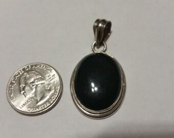 Vintage sterling silver bloodstone pendant badr