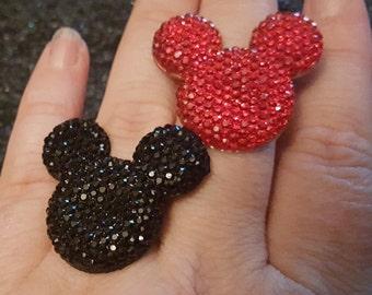 Mickey ring, Mickey cufflinks, Mickey  earrings, Mouse ring, Mouse cuffllinks, Mouse earrings