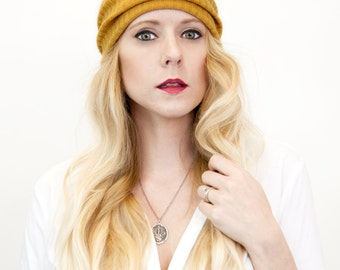 Mustard Headband, Ear Warmers Wide Yoga Headband, Yellow Headband Adult Womens Head Band Fabric Fall Winter Exercise No Slip Outdoors Gift