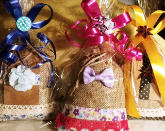 Aromatic sachets lavender, rosemary, chamomile or thyme