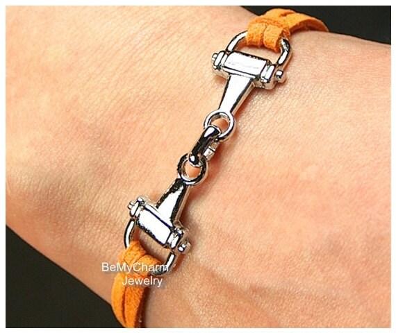 bracelet questre cheval bracelet bracelet filet argent bracelet cordon en cuir faux sude cadeau pour elle charm bracelet moins 10 755 - Cadeau Cheval