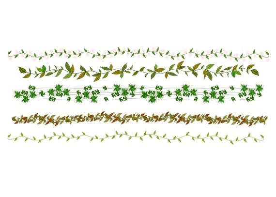 Leaf Border Clipart Sweet Foliage Nature Borders Digital Commercial Use Leaves From CinnamonCoffeeStudio On Etsy Studio