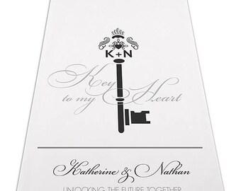 Key Monogram Personalized Aisle Runner Wedding Ceremony Decoration