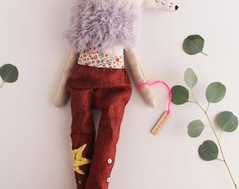 Poupée de collection, poupée chiffon, Poupée tissu, cadeau anniversaire, décoration murale, cadeau naissance, maison, décoration intérieur