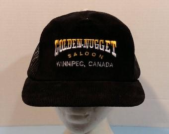 Golden Nugget Saloon Winnipeg Manitoba Canada Baseball Truckers Hat Cap snapback