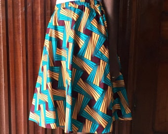 SALE African fashion african clothing african fabric flared skirt african shop ankara skirt african print short skirt
