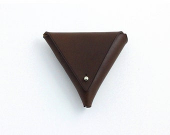 Dark Brown Leather Coin Purse