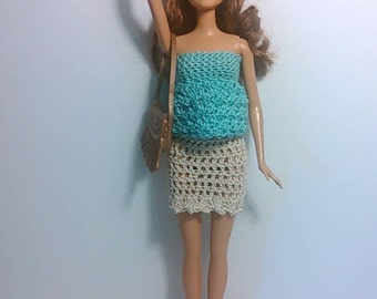 Barbie/Skipper/Stacie outfit-dress- handmade-crocheted