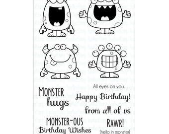 "Your Next Stamp Silly Monsters Clear Stamps 4""X6"""