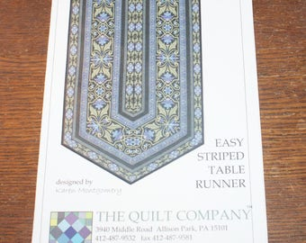 Quilt Pattern  Uncut Easy Striped Table Runner Quilt Pattern and instructions
