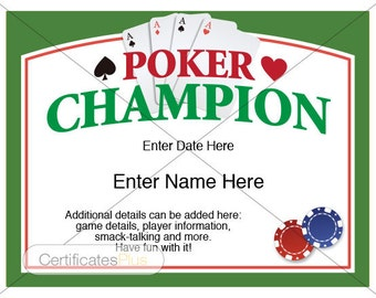 Badminton certificate kid certificate champion award poker certificates poker award templatesmens gifts fathers day gifts card games yadclub Image collections