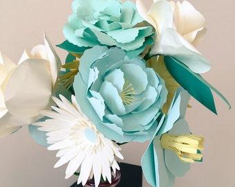 Paper flower bouquet gift wedding bride bridal decor anniversary