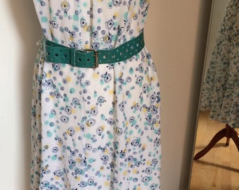 Sale! 50% reduced! Beautiful summer original vintage dress from the 70s!