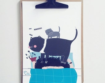Print- Cat Lady Oh Oh