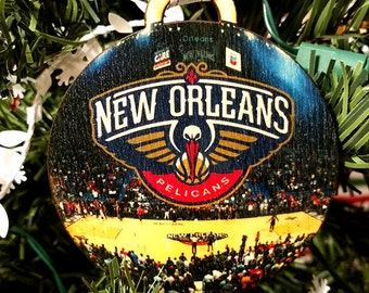 New Orleans Pelicans Christmas Ornament / gift tag
